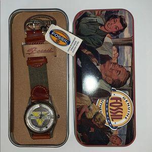 Vintage FOSSIL Vanderbilt University Watch / Tin